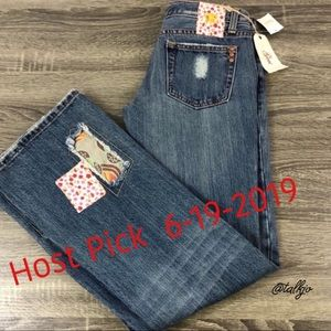 💥HP💥6-19-19 NWT Miss Me Patchwork Jeans, Size 26